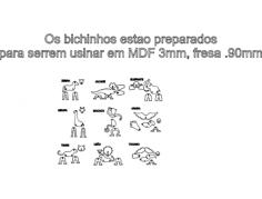 moldes bichos 1 Free Dxf File for CNC