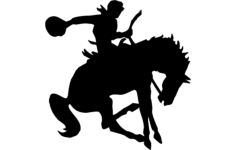 man on horse silhouette Free Dxf File for CNC