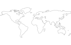 world continents Free Dxf File for CNC