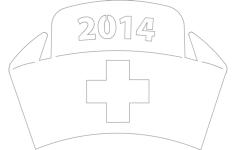 nurse hat Free Dxf File for CNC
