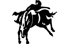 rodeo cowboy Free Dxf File for CNC