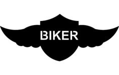 winged shield biker Free Dxf File for CNC