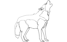 hound dog silhouette Free Dxf File for CNC