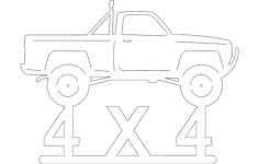 4x4p up Free Dxf File for CNC