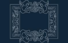 celtic font frame Free Dxf File for CNC