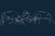 animals fighting Free Dxf File for CNC