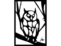 baykuş 3 (owl) Free Dxf File for CNC