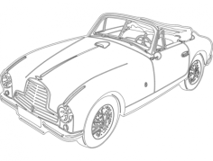 aston car Free Dxf File for CNC