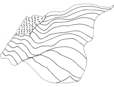 american flag Free Dxf File for CNC