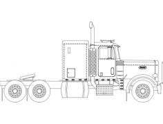peterbilt truck Free Dxf File for CNC