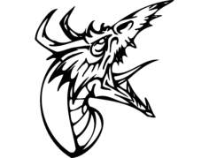 dragon 013 full Free Dxf File for CNC