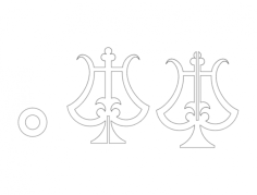 chandelier Free Dxf File for CNC