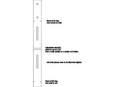 adjustable standoffs Free Dxf File for CNC