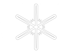 snowflakes silhouette vector Free Dxf File for CNC