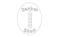 barber shop Free Dxf File for CNC