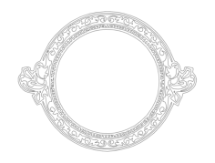 cool circle frame Free Dxf File for CNC