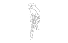 parrot Free Dxf File for CNC