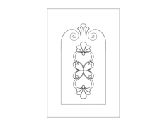 door pattern Free Dxf File for CNC