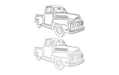 truck 4 Free Dxf File for CNC