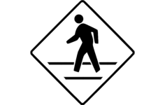 cross walk Free Dxf File for CNC