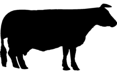 cow Free Dxf File for CNC