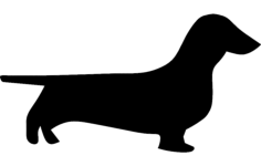 dachshund Free Dxf File for CNC