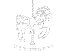 cavalo de carrocel Free Dxf File for CNC