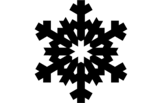 design snowflake Free Dxf File for CNC