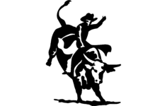 bull rider 2 Free Dxf File for CNC