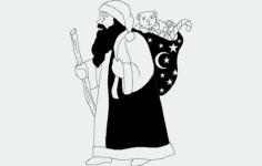 santa Free Dxf File for CNC