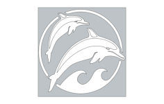 dolphins Free Dxf File for CNC
