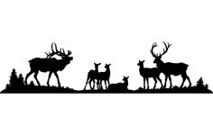 elk Free Dxf File for CNC
