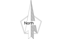 north arrow Free Dxf File for CNC