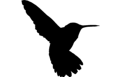 humming bird Free Dxf File for CNC