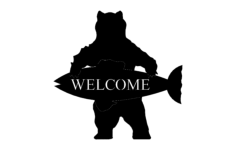 welcome bear Free Dxf File for CNC