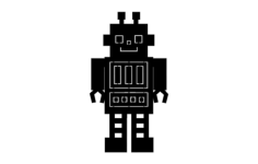 robot Free Dxf File for CNC