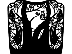 каминная решетка-птицы- для лазера Free Dxf File for CNC