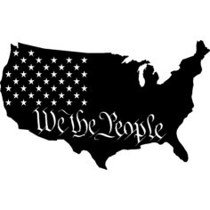 we the people Free Dxf File for CNC