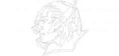 und fighting siouxFree Dxf File for CNC