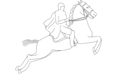 horse jumping Free Dxf File for CNC