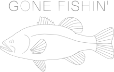 bass gone fish in final Free Dxf File for CNC