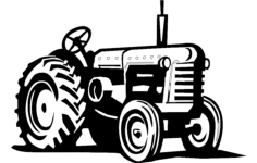 tractor Free Dxf File for CNC
