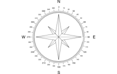 north arrow compass Free Dxf File for CNC