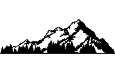 mountains Free Dxf File for CNC