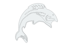 fish jump Free Dxf File for CNC