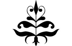 flower Free Dxf File for CNC