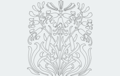 bluebell Free Dxf File for CNC