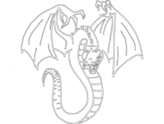 dragon 2 Free Dxf File for CNC