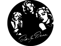 marilyn clock Free Dxf File for CNC