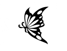borboleta 13 57×85 (butterfly) Free Dxf File for CNC